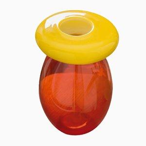 Vaso Queen giallo e rosso di Karim Rashid per Purho