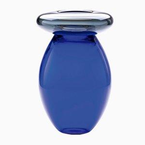 Vaso Queen blu di Karim Rashid per Puhro