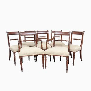 Mahogany Chairs, 1830s, Set of 8