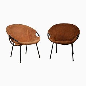 Runde Korbsessel von Lusch Erzeugnis für Lusch & Co, 1960er, 2er Set