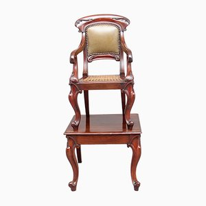 Mahogany Children's Chair on Stand, 1860s