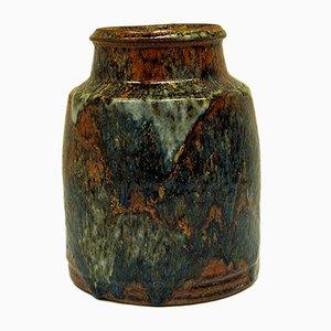 Jarrón vintage de cerámica esmaltada de Erik Pløen