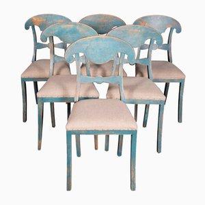 Dekorative antike schwedische Stühle, 6er Set