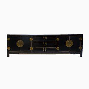 Schwarz lackiertes chinesisches Vintage Sideboard-Buffet