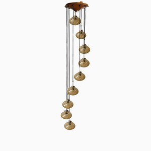 Mid-Century Cascading Pendant Lamp from Doria, 1970s