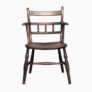 Armlehnstuhl aus Ulmen- & Eschenholz, 1840er