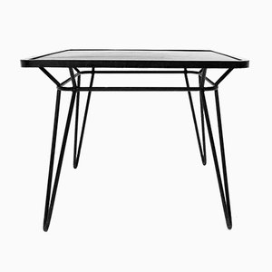 Vintage Wrought Iron Square Table by Ico Parisi