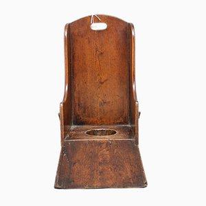 Kinderstuhl aus Ulmenholz, 1780er