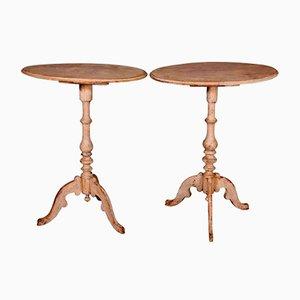 Antike schwedische Tische, 2er Set