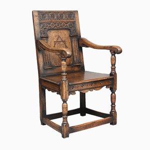 Chaise Wainscot Vintage en Chêne