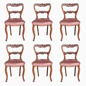 Rosewood Dining Chairs, 1860s, Set of 6