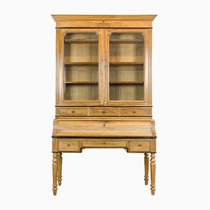 Antique Display Cabinet with Secretary