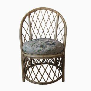 Rattan Armchair by Adrien Audoux & Frida Minet, 1950s