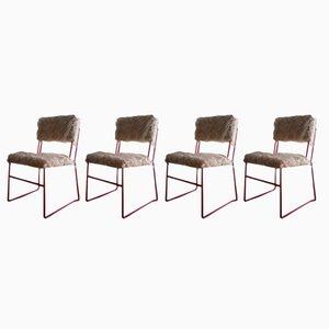 Chaises en Métal Laqué, 1960s, Set de 4