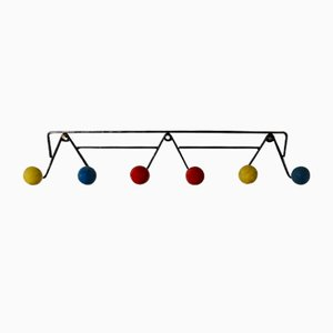 Vintage Multicolored Ball Coat Rack, 1960s
