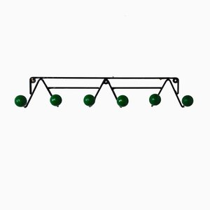 Vintage French Green Coat Rack, 1960s