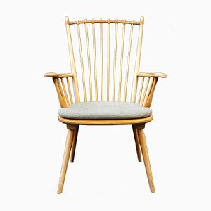 Vintage German Spindle Back Chair by Alfred Haberer for Fleiner