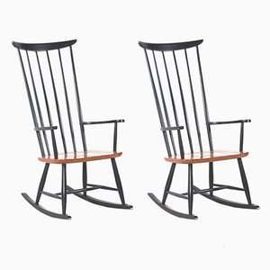 Vintage Rocking Chairs by Ilmari Tapiovaara for Fanett, Set of 2