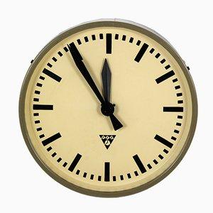 Reloj de ferrocarril industrial de Pragotron, años 60