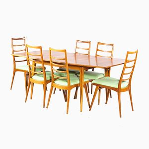 Mid-Century Cherry Wood Dining Room Set