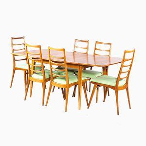 Mid-Century Cherry Wood Dining Room Set
