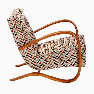 Vintage Lounge Chair by Jindrich Halabala for UP Zavody, 1930s