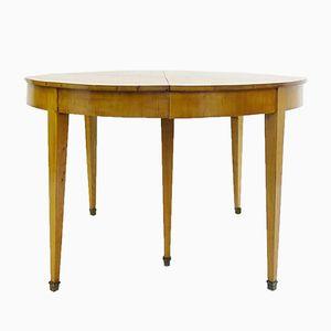 Table de Salle à Manger Ronde à Rallonge Vintage en Merisier