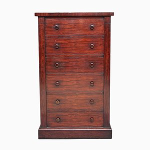 19th Century Wellington Mahogany Chest