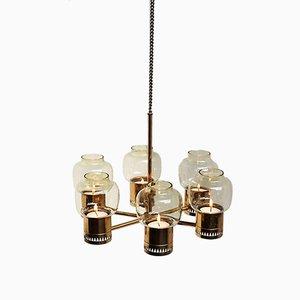 Lámpara de araña candelabro de Hans Agne Jakobsson para Hans-Agne Jakobsson AB Markaryd, años 60
