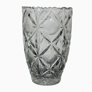 Jarrón checo de cristal de Bohemia, años 70