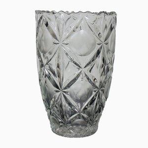 Vaso in vetro di Bohemia, anni '70