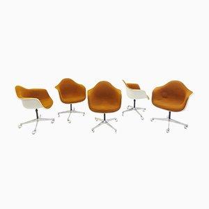 Sillas giratorias de Charles & Ray Eames para Herman Miller, años 60. Juego de 5