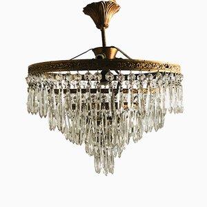 Vintage Crystal Flushmount Light