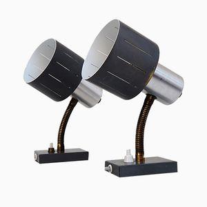 Wandlampen aus Aluminium von Vitrika, 1960er, 2er Set