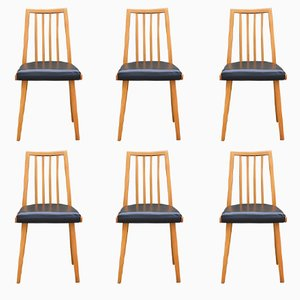 Czech Dining Chairs from Interier Praha, 1960s, Set of 6