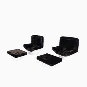 Modell IL Patrone Sessel & Fußhocker von T. Ammannati & G.P. Vitelli für Comfort Italy, 2er Set