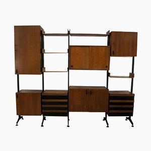 Libreria Mid-Century modulare in teak