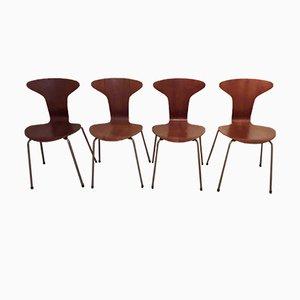 Sedie Mosquito nr. 3105 vintage di Arne Jacobsen per Fritz Hansen, set di 4
