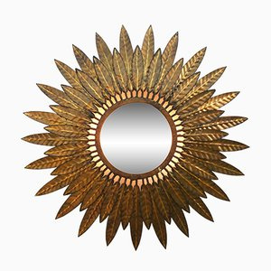 French Sunburst Wall Light, 1950s
