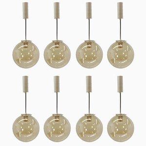 Lámparas colgantes de INVA Litoměřice, años 60. Juego de 8
