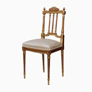 Vintage French Gilt Wood Chair