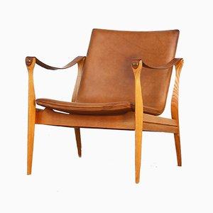 Safari Lounge Chair by Ebbe & Karen Clemmensen for Fritz Hansen, 1958