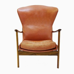 Scandinavian Rosewood and Leather Armchair