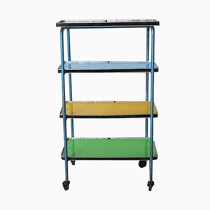 Vintage Industrial Colorful Shelves