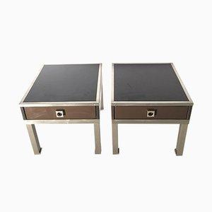 Tables d'Appoint Vintage Laquées Guy Lefevre, Set de 2