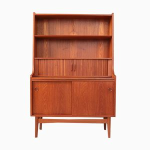 Danish Teak Writing Cabinet by Johannes Sorth for Bornholm Møbelfabrik, 1960s