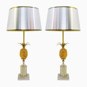 Vintage Pineapple Lamps, Set of 2
