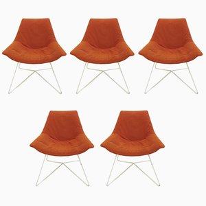 Chaises d'Appoint, 1970s, Set de 5