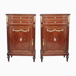 19th Century French Mahogany Cabinets, Set of 2