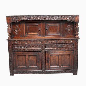 17th-Century Oak Court Cupboard